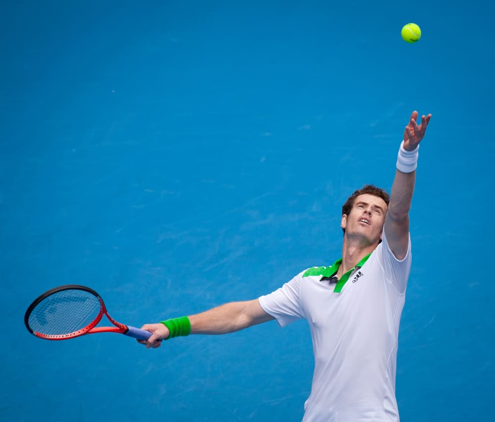 Andy Murray of Great Britain tennis