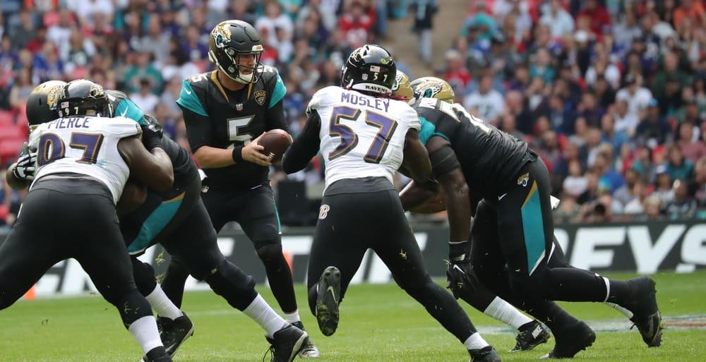 quarterback for Jacksonville Jaguars during the NFL match football