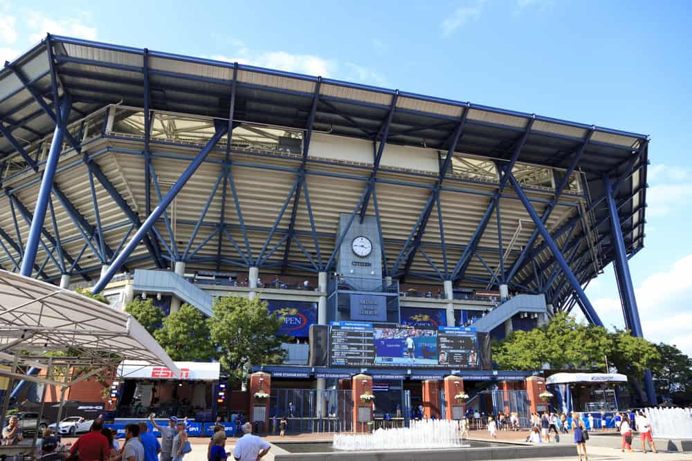 Arthur Ashe Stadium during the US Open