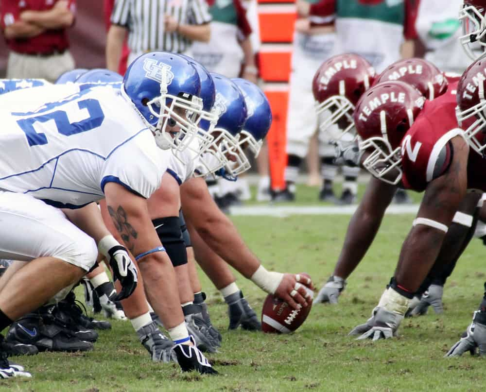 Buffalo Offensive Line to hike the football against Temple