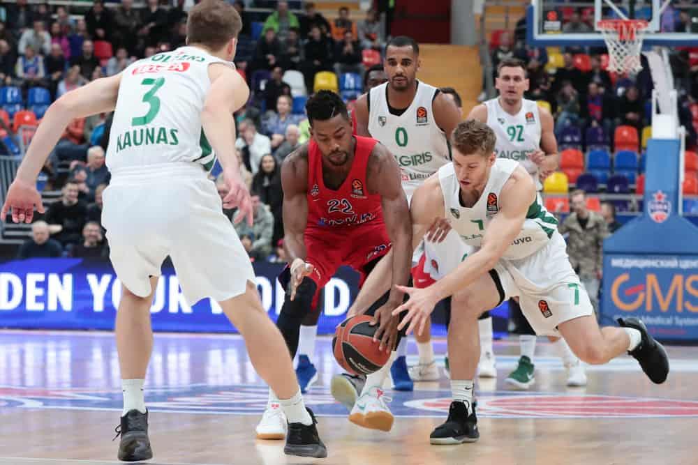 Euroleague basketball match between CSKA (Russia) vs Zalgiris (Lithuania)
