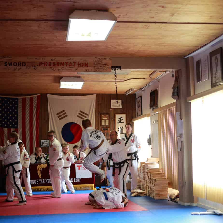 2016 Tae Kwon Do students test for promotion