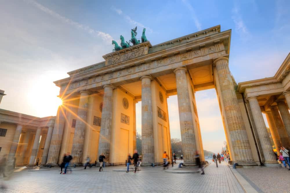 Brandenburg gate at sunset taekwondo