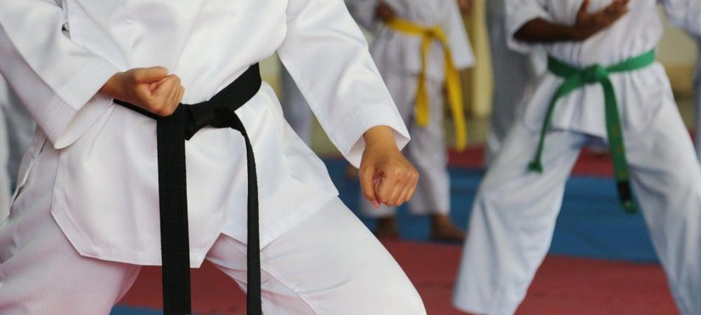 Taekwondo belts athletes